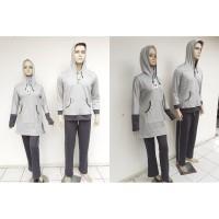 pakaian olahraga muslim couple