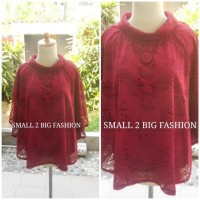 kebaya big jumbo / atasan brokat big size merah / baju jumbo bigsize