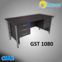 Meja kantor tulis 1biro ORBITREND GST 1080. Warna Mohogani dan beech.
