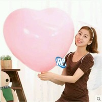 balon hati jumbo / balon latex love / balon bentuk hati warna pink