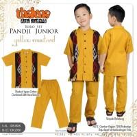 disc 20%baju setelan koko anak yellow motif ethnic PANDJI dari THALUNA