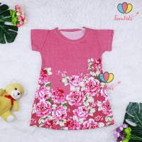 Dress Larissa uk 3-4 Tahun / Dres Lengan Pendek Baju Anak Atasan Cewek
