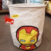 Miniso Ironman Cute Laundry Bag Keranjang Baju Kotor