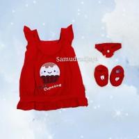 Dress set baju bayi pakaian anak perempuan fashion rok bayi cewek lucu