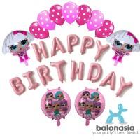 Balonasia Dekorasi Ulang Tahun LOL Surprise Pink Set