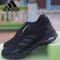Sepatu Adidas sekolah hitam polos