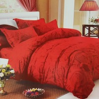 Red Rose, Bedcover set Cherry ,King size T.30cm,katun jepang