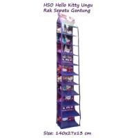 HSO Hello Kitty Ungu Hanging Shoes Organizer Rak Sepatu Gantung Tanpa