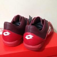 Paling Baru Sepatu Futsal Lotto Squadra In Dark Red White L01040011