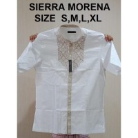 TERMURAH Baju Koko Alisan Putih Pendek size 14,5 (M) - 16 (XL)