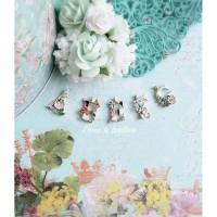 Charm KC Floral Alphabet, bandul , kalung , gelang