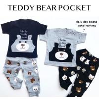 TEDDY BEAR POCKET setelan anak setelan bayi babeebabyshop