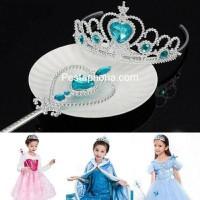 Mahkota Princess / Tiara Anak / Children Crown + Tongkat Peri