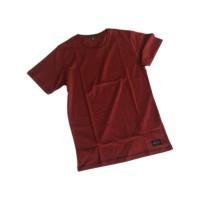 Kaos Polos Paper Plane Clothes Warna Maroon Misty Bahan Katun Premium