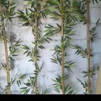 pohon artificial bambu partisi,bunga artificial plastik