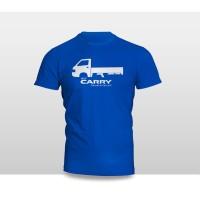Kaos Baju Pakaian Otomotif Mobil SUZUKI NEW CARRY SILUET TS Logo Font