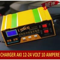 Smart Fast Charger AKI Mobil & Motor, Cas AKI 12 V dan 24 Volt 10 A