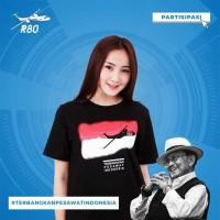 tshirt baju kaos TERBANGKAN PESAWAT INDONESIA R80 B.J HABIBI Terlaris