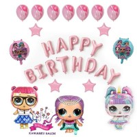 LoL Trio Dekorasi Set Balon Foil LOL Balon Ulang Tahun Balon Karakter