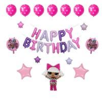 Balon LOL Set Dekorasi Balon foil balon huruf ulang tahun balon karakt