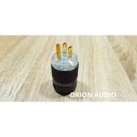 Power plug US(kaki 3) gold plated cryo by Orion Audio