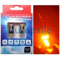 Autovision Microzen LED T10 W5W 12V 4.5W Canbus Amber Lampu Senja Sein