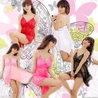 Baju tidur sexsi renda transparan lingerie import