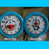 Jam Dinding Wall Clock Doraemon Putih Besar Diameter 30 cm