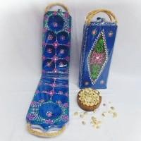 Mainan Anak Tradisional - Congklak Kayu Lipat Biji Keong 100 Pcs