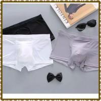 Celana Dalam Boxer Pria TERBARU - Bahan Ice Silk Sutera Lembut Halus