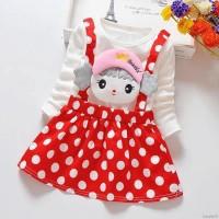 Dress Bayi-Anak Lengan Panjang Motif Polkadot