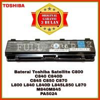Baterai Toshiba Satellite C800 C805 C840 C840D C845 C850 C870 PA5024