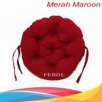 Bantal ibu hamil/Bantal duduk/Bantal motor - Bulat Merah maroon