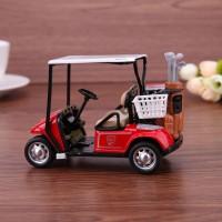 Miniatur Mobil Golf Pull Cart Skala 1: 36 Bahan Alloy untuk Simulasi