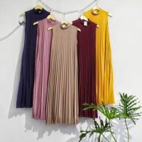 inner dress plisket / maxy dress plisket