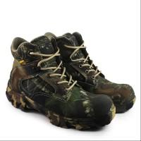 Sepatu Boots Safety CAMO pendek Sepatu Pria Kerja Proyek ujung Besi