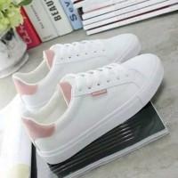 sepatu sneaker kets wanita putih Lispink trend ready no 36 37 38 39 40
