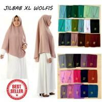 Jilbab instan bahan Wolfis Premium Size XL tanpa serut Murah