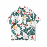 Kemeja Import Hawaiian Tropical Baju Distro Fashion Pria Cowok