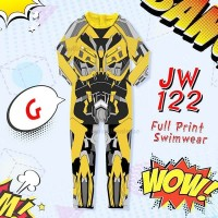 swimsuit anak laki laki karakter bumble bee transformer baju renang