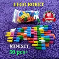GROSIR LEGO ROKET MINISET 50 pcs+ MAINAN EDUKASI ANAK MINI SET JADUL