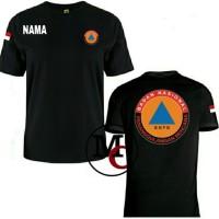 T-shirt Kaos Baju BNPB Gratis Nama - MUTIARA COSTUM