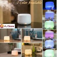 Diffuser   Humidifier   Aromatherapi   Pelembab Udara 7 led - White