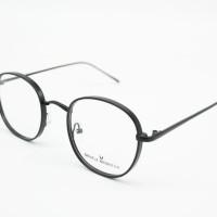 Frame Kacamata Minus Fashion Pauline Bulat Besi Kokoh Pria Wanita