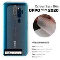 OPPO A9 2020 / A5 2020 BACK SKIN CARBON GARSKIN ANTI GORES BELAKANG