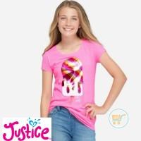 Tshirt Justice Ice Lollipop BAJU BRANDED KAOS ANAK SANTAI PERGI HADIAH