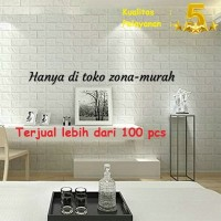 Sticker Wallpaper Dinding 3D Embosed Model Bata - White