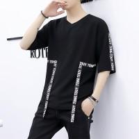 Kaos T-Shirt Lengan Pendek Hip Hop Musim Panas untuk Pria