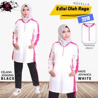 Kaos Jovanca by Rocella | Atasan Olahraga - Workout Edition - White, S-M