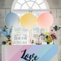 Balon Lateks Pastel Besar 32 Pastel Jumbo Macaron Latex Soft Color